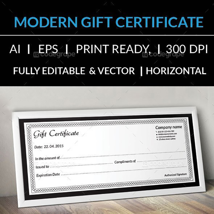 Ultimate Print Templates Bundle with 130 Items - Only $19 - codegrape 5953 clean gift certificate small