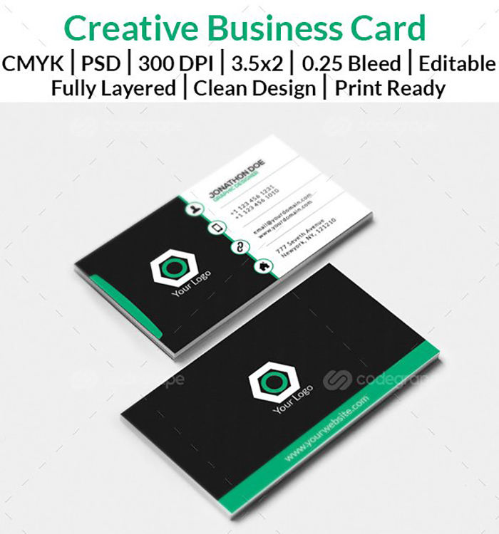 Ultimate Print Templates Bundle with 130 Items - Only $19 - codegrape 6051 business card stylish modern small