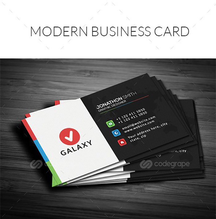 Ultimate Print Templates Bundle with 130 Items - Only $19 - codegrape 6063 modern vibrant business card small