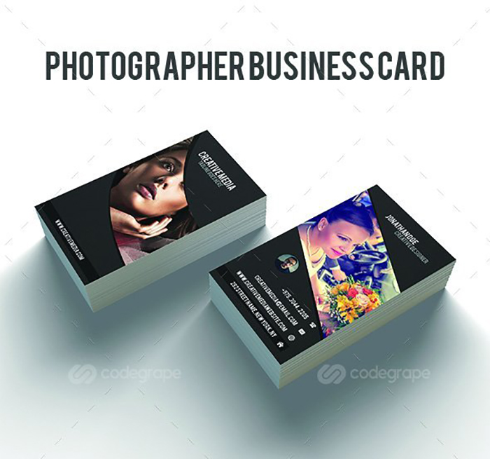 Ultimate Print Templates Bundle with 130 Items - Only $19 - codegrape 6186 photographer business card small