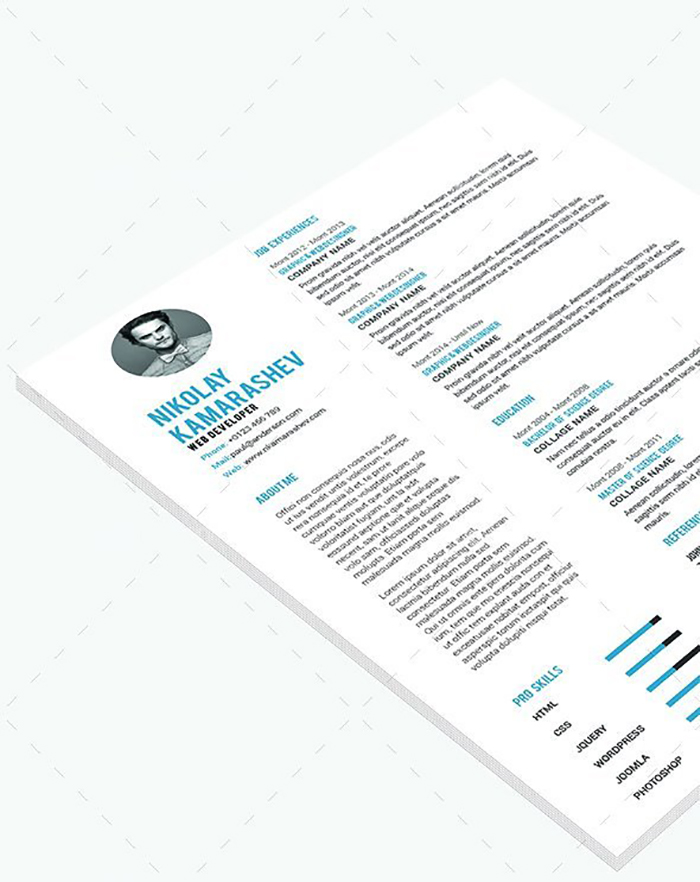Ultimate Print Templates Bundle with 130 Items - Only $19 - codegrape 6191 resume small