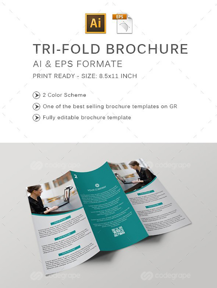 Ultimate Print Templates Bundle with 130 Items - Only $19 - codegrape 6198 tri fold brochure small