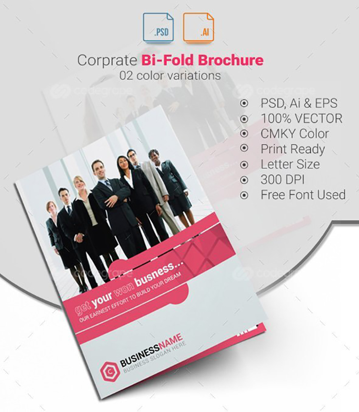 Ultimate Print Templates Bundle with 130 Items - Only $19 - codegrape 6212 bi fold brochure small