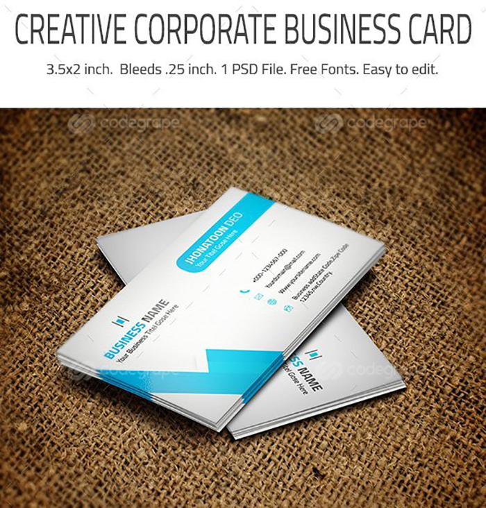 Ultimate Print Templates Bundle with 130 Items - Only $19 - codegrape 6232 corporate business card small