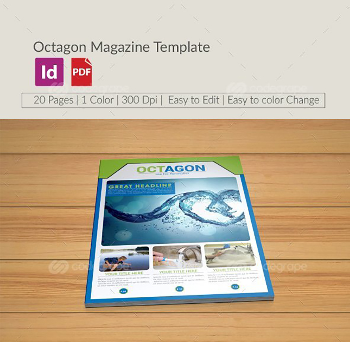 Ultimate Print Templates Bundle with 130 Items - Only $19 - codegrape 6259 octagon magazine template small