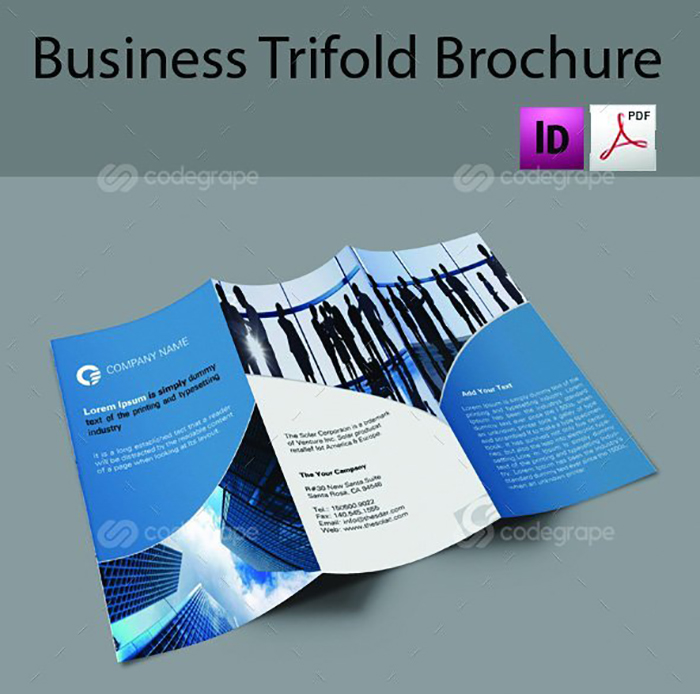 Ultimate Print Templates Bundle with 130 Items - Only $19 - codegrape 6282 business tri fold brochure small