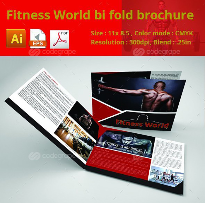 Ultimate Print Templates Bundle with 130 Items - Only $19 - codegrape 6284 fitness world bi fold brochure small
