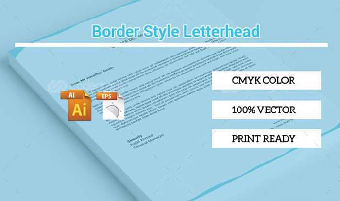 Ultimate Print Templates Bundle with 130 Items - Only $19 - codegrape 6304 border style letterhead small