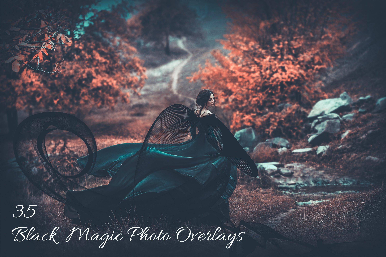 35 Black Magic Photo Overlays