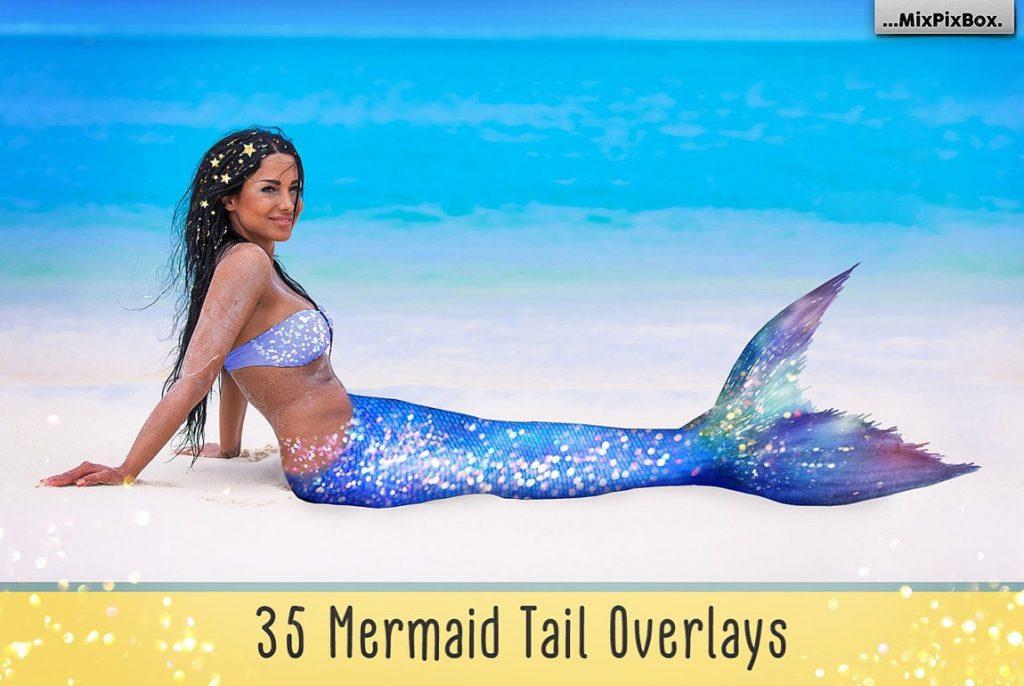 20 Mermaid Tail Overlays - $8