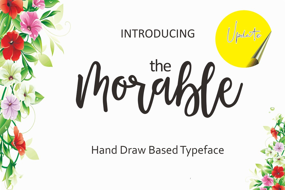 Morable Modern Hand Based Typeface