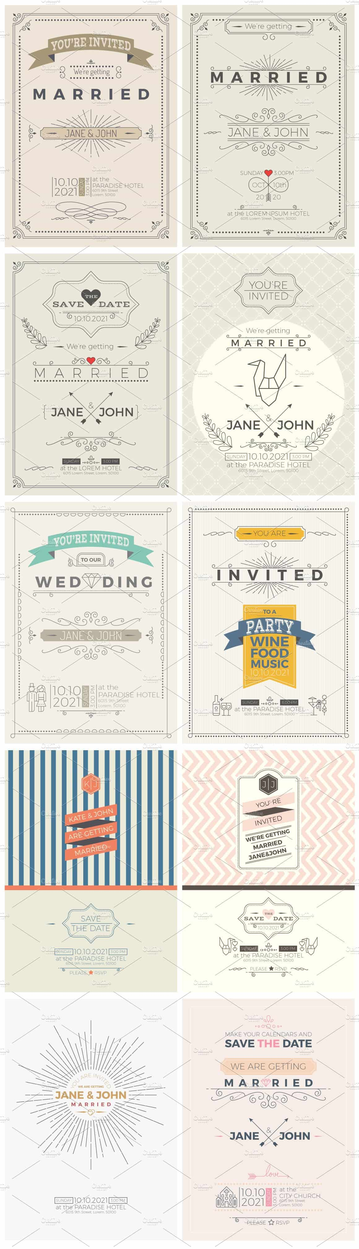 Wedding Invitations Value Pack