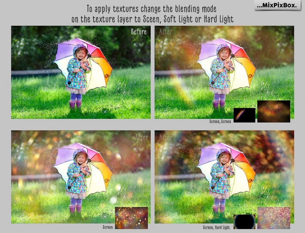 32  Rainbow photo overlays + 20 Textures