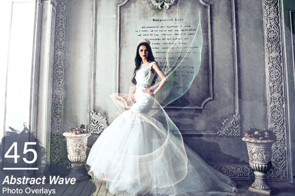 1800+ Wedding Effects Bundle Photoshop Add-Ons - 45 abstract wave overlays