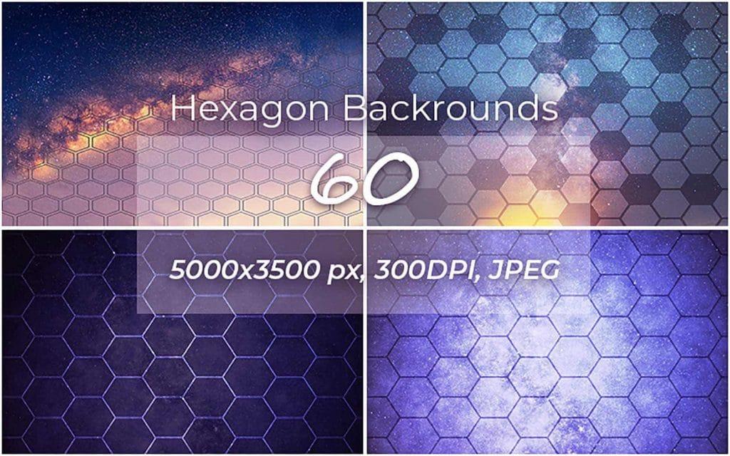 60 Hexagon Backgrounds