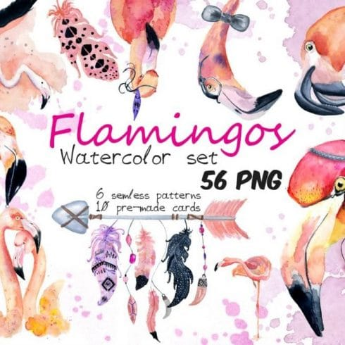 65 Watercolor Feather Birds PNG  - just $2 - 600 13 490x490
