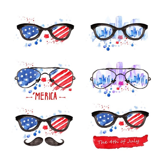 60+ American Flag Vector Products For Your Design Project 2020 - 600 16