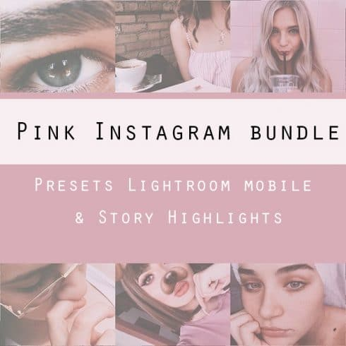 Pink Instagram Templates: Presets Lightroom Mobile & Story Highlights - 600 2 490x490