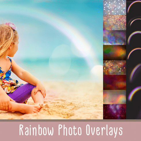 32  Rainbow photo overlays + 20 Textures - 600 2 490x490