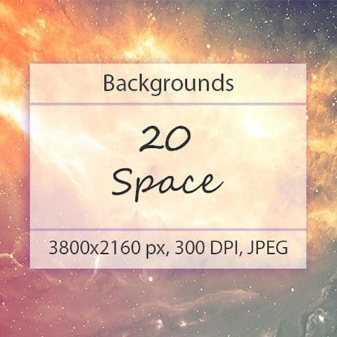 20 Space Backgrounds - $2 - 600 29 490x490