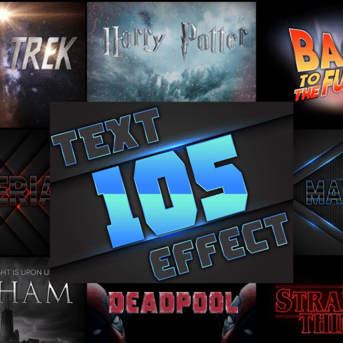 PSD Text Effects - 105 Pro Phtoshop Effects for Texts - 600 490x490