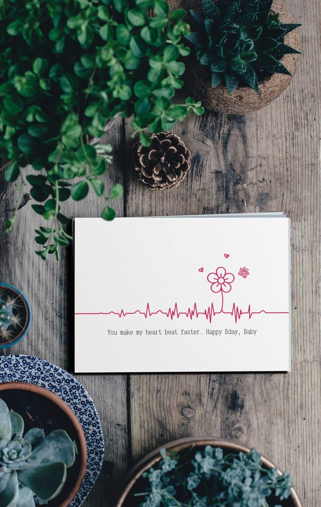 Happy BDay Postcard for Beloved