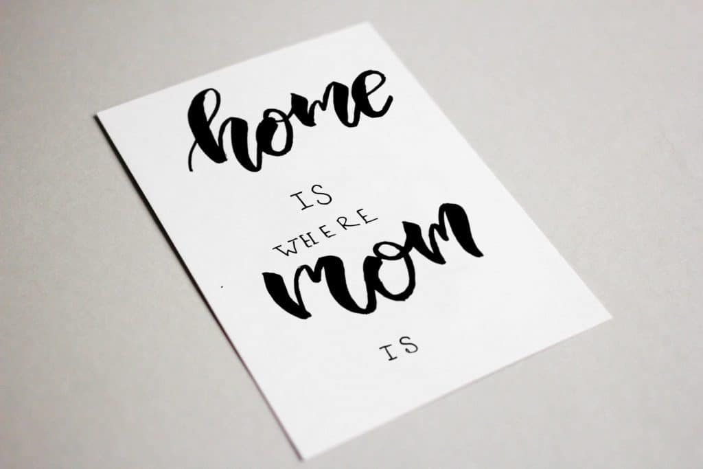 The Best  Postcard for Mommy. Home is where Mom is