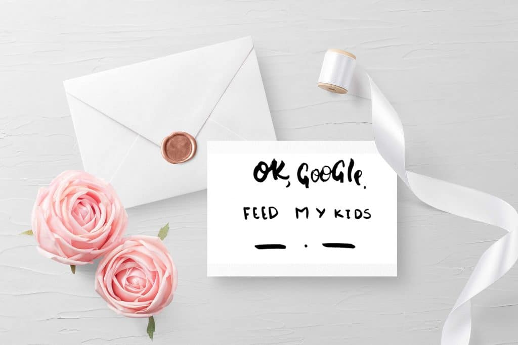Google, Feed My Kids Funny Postcard for Mother
