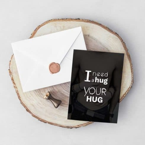 I need a Hug Valentine's Day Typography Postcard - Untitled 4 1 490x490