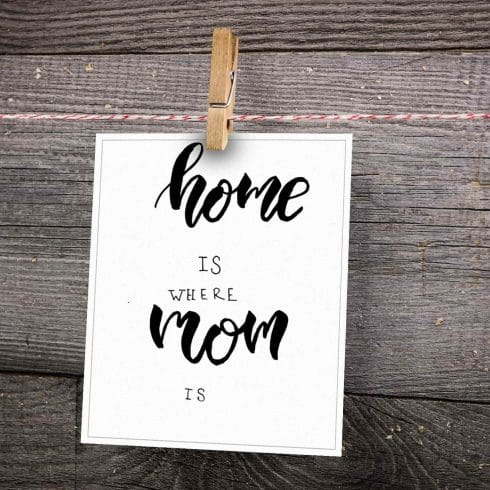 The Best  Postcard for Mommy. Home is where Mom is - Untitled 6 1 490x490