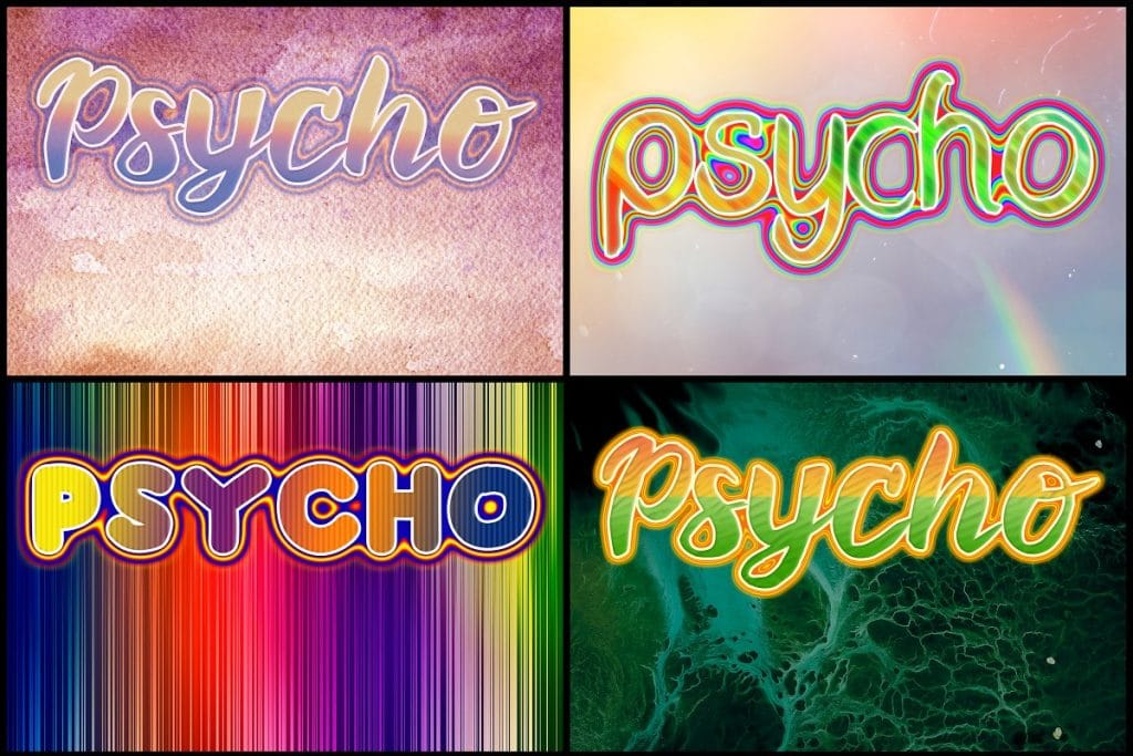 PSD Text Effects - 105 Pro Phtoshop Effects for Texts - befunky collage 12