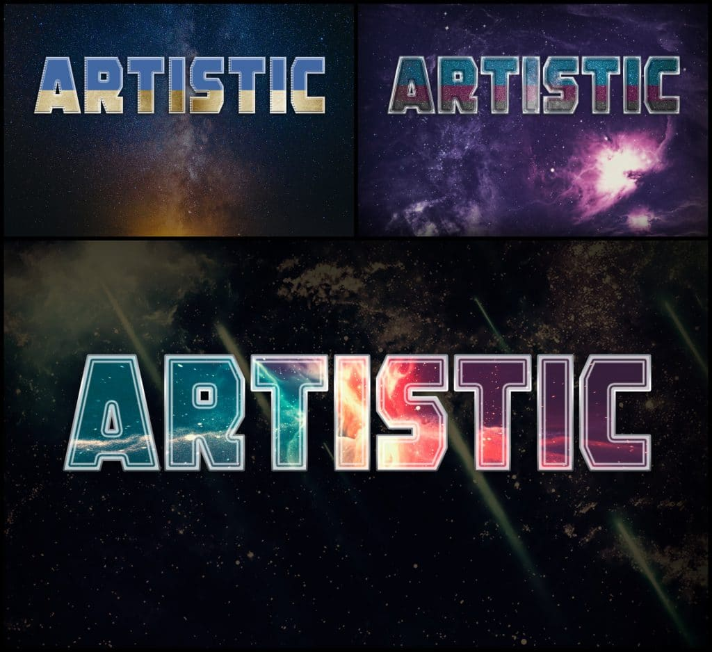 PSD Text Effects - 105 Pro Phtoshop Effects for Texts - befunky collage 18