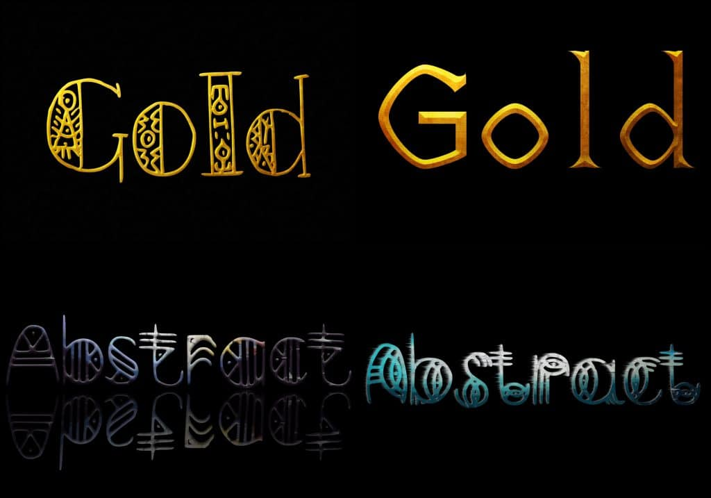 PSD Text Effects - 105 Pro Phtoshop Effects for Texts - befunky collage 21