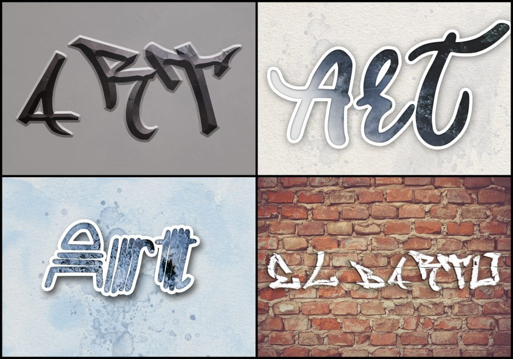 PSD Text Effects - 105 Pro Phtoshop Effects for Texts - befunky collage 22