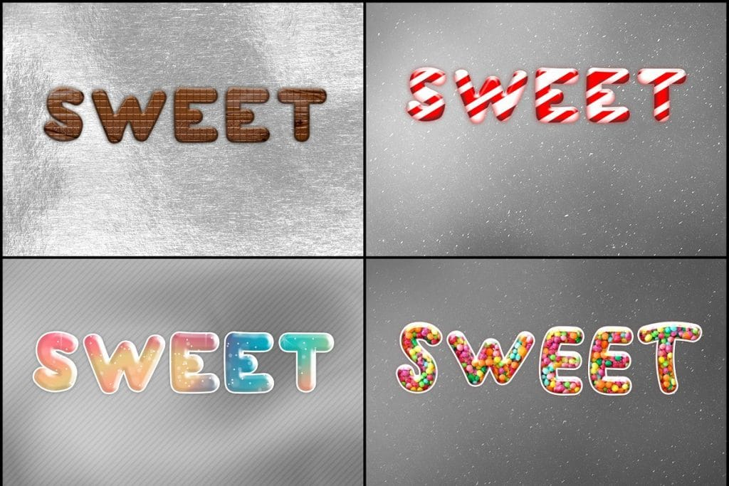 PSD Text Effects - 105 Pro Phtoshop Effects for Texts - befunky collage 3
