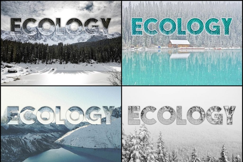 PSD Text Effects - 105 Pro Phtoshop Effects for Texts - befunky collage 4