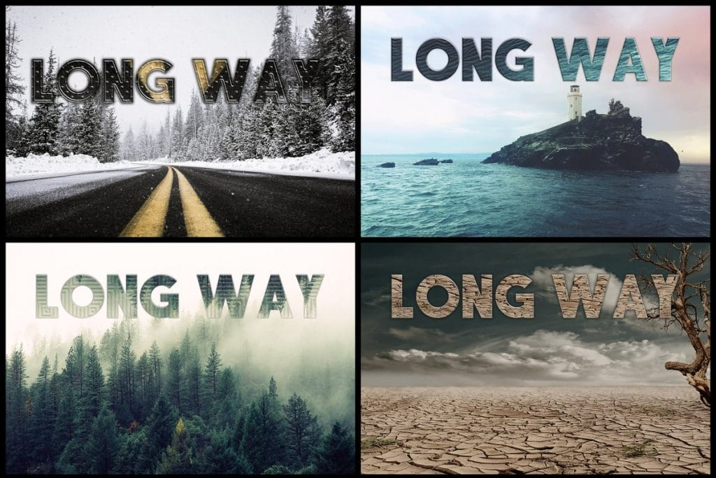 PSD Text Effects - 105 Pro Phtoshop Effects for Texts - befunky collage 7
