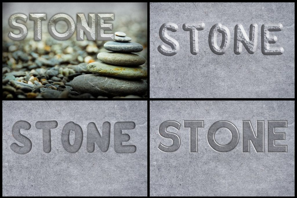 PSD Text Effects - 105 Pro Phtoshop Effects for Texts - befunky collage 8