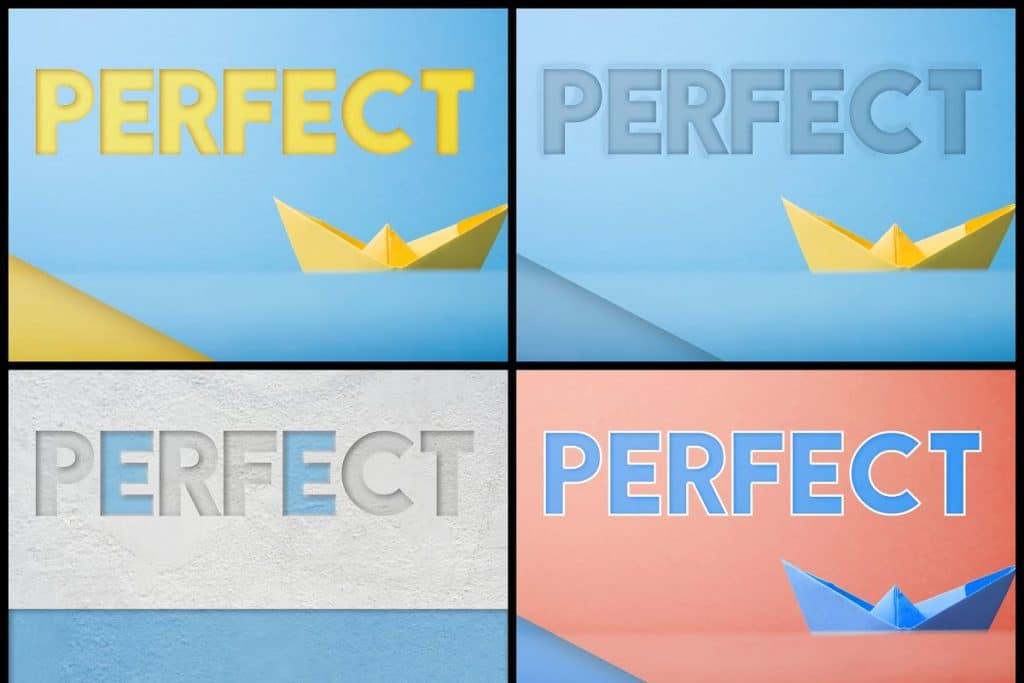 PSD Text Effects - 105 Pro Phtoshop Effects for Texts - befunky collage 9