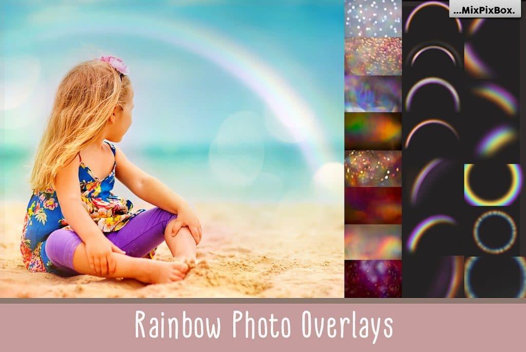32 Rainbow photo overlays + 20 Textures