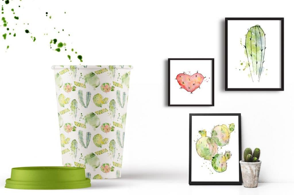 Watercolor Abstract Cactus -$12 - cover 10 1 1