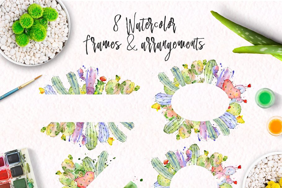 Watercolor Abstract Cactus -$12 - cover 14