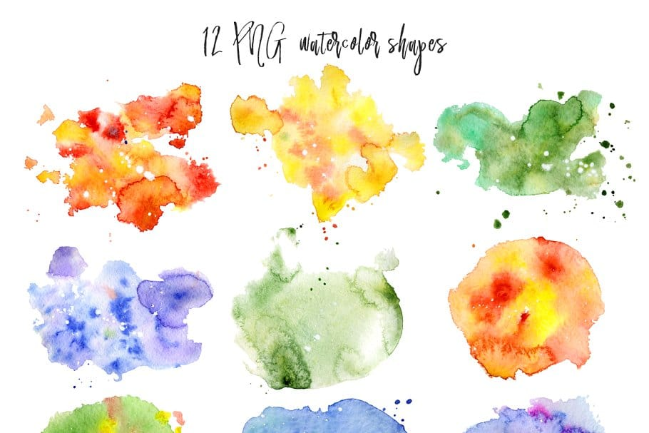 Watercolor Abstract Cactus