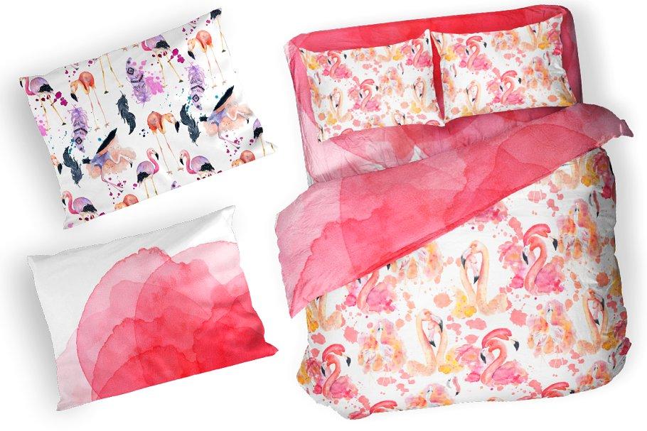 Boho Flamingo Watercolor Set - cover 8