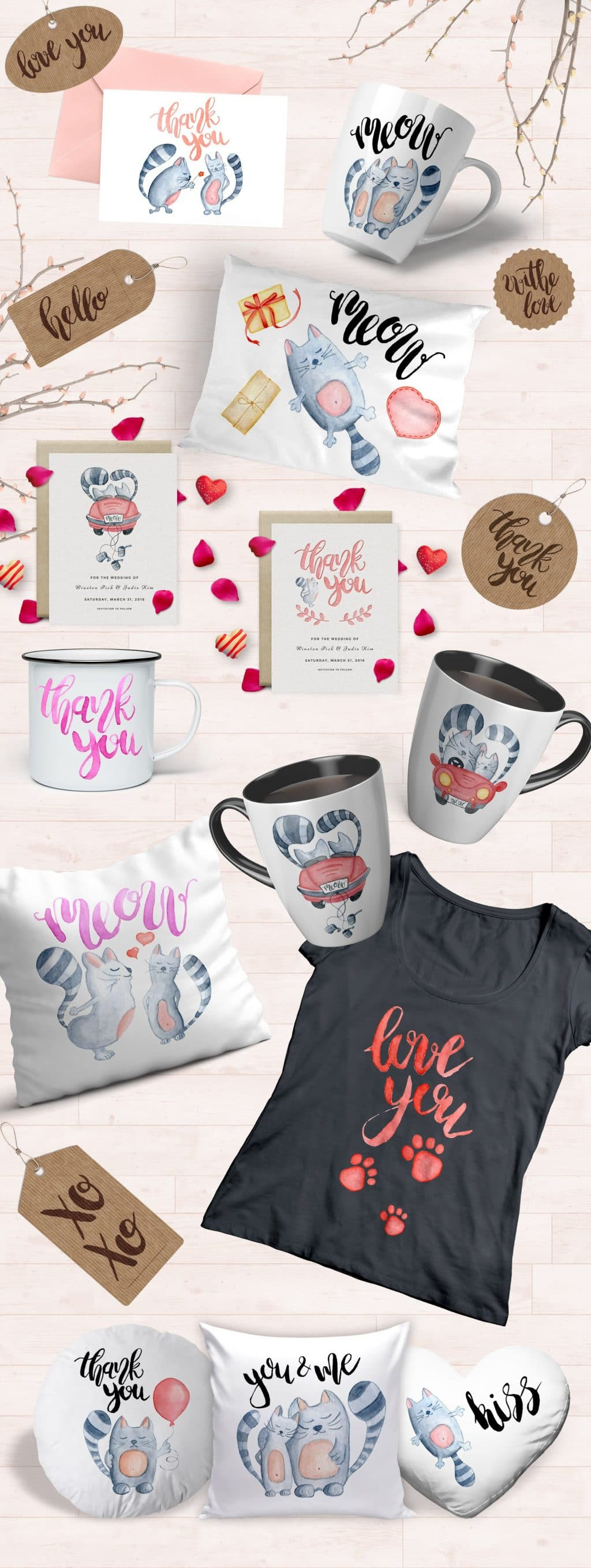 Watercolor Love Сats Сollection