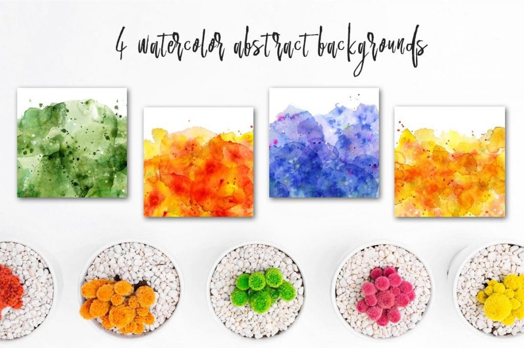 Watercolor Abstract Cactus -$12 - cover 9 1 1