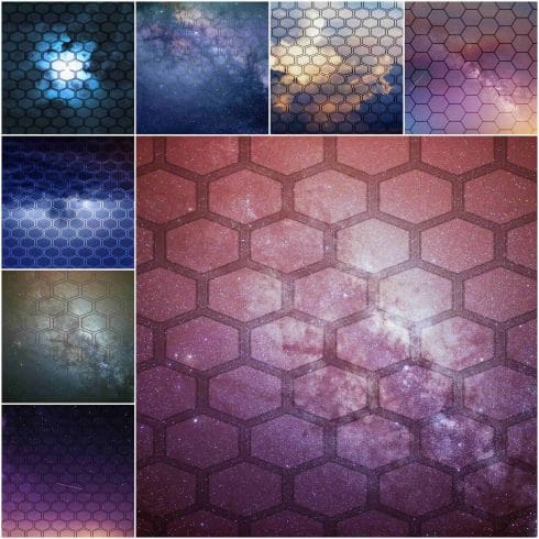 60 Hexagon Backgrounds - $7 - large image 12 min 490x490