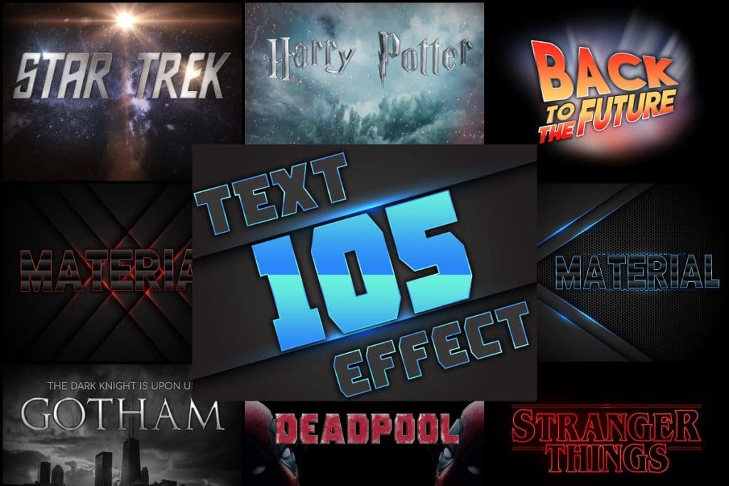 PSD Text Effects - 105 Pro Phtoshop Effects for Texts - main image
