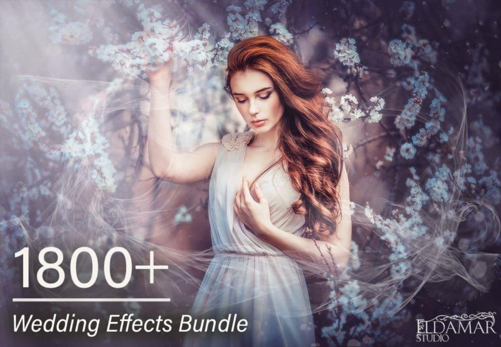 1800+ Wedding Effects Bundle Photoshop Add-Ons - main image hd