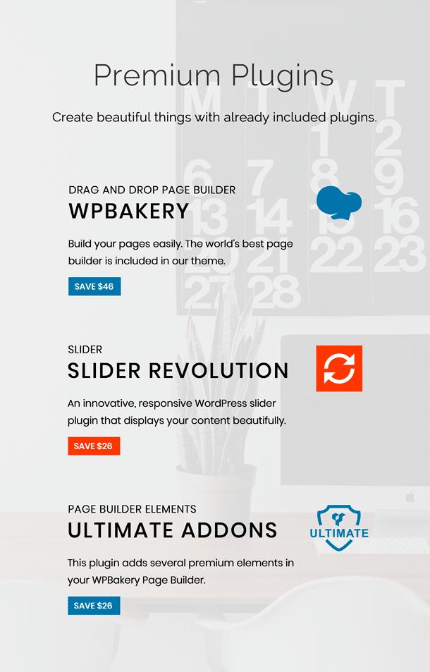 15 WordPress Themes Black Friday Bundle - presentation premium plugins VTQPr